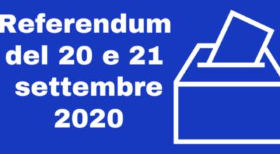 REFERENDUM COSTITUZIONALE DEL 20 E 21 SETTEMBRE 2020 – CONVOCAZIONE DEI COMIZI