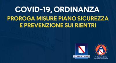 PROROGA MISURE PIANO SICUREZZA E PREVENZIONE SU RIENTRI – Ordinanza n°69, 31/08/2020