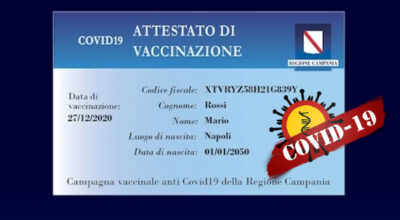 RILASCIO CARD VACCINALE – ATTESTATO DI VACCINAZIONE COVID 19